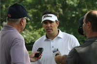 Kurt Warner returned to Cedar Rapids to participate in the Zach Johnson Foundation Classic on Monday at Elmcrest Country Club. (Photo by Margaret O'Banion